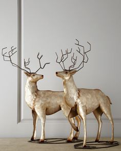 """Champagne Frost"" Deer, Set of Two at Neiman Marcus."