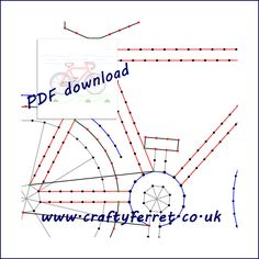 Bike embroidery on card prick and stitch pattern for card and picture making - �2.50 #onselz