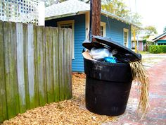 A trash can like this is just asking for pests such as rats and raccoons! Prevent them by keeping it covered.