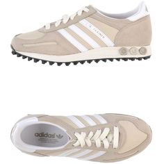 ADIDAS ORIGINALS Low-tops (5,455 PHP) ❤ liked on Polyvore featuring shoes, sneakers, beige, round toe sneakers, beige sneakers, round cap, adidas originals trainers and logo shoes