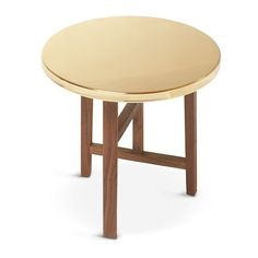 Neri&Hu Trio side table (9,360 CNY) ❤ liked on Polyvore featuring home, furniture, tables, accent tables, top table, brass end table, brass top table, brass side table and brass furniture