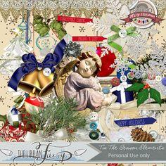 Tis The Season Kit by The Urban Fairy, available at www.digitalscrapbookingstudio.com #theurbanfairy #theStuio