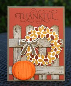 Stampin' Up! Wondrous Wreath Thankkful by skdeleeuw - Cards and Paper Crafts at Splitcoaststampers
