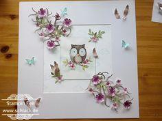 stampin Punch Picture art  pansy , petite  petals , four feathers ,  sprinkles of Life clouds worte die gut tun wolken Stanze Stiefmütterchen , Kleine Blüte Federn