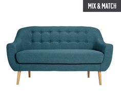 Buy Hygena Lexie 2 Seater Fabric Sofa - Denim Blue at Argos.co.uk, visit Argos.co.uk to shop online for Sofas, Living room furniture, Home and garden