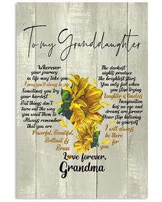 Shop for unique Granddaughter apparel and homegoods on CoolGrandmaStore. Find the perfect Granddaughter t-shirts, mugs, posters, phone cases, and more. Grandkids Quotes, Quotes About Grandchildren, Inspirational Words Of Wisdom, Meaningful Quotes, Grandaughter Birthday Wishes, Anniversary Poems For Husband, Bob Marley, Grandma Quotes, Wonder Quotes