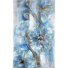 Schilderij blauwe bloem 50 x 80 Handgeschilderd - Artello Tie Dye Skirt, Van, Vans