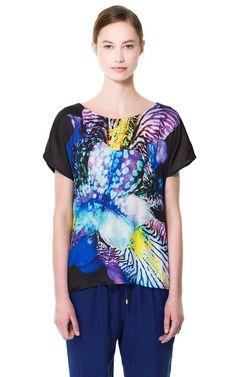 PRINTED T - SHIRT - T - shirts - Woman   ZARA United States