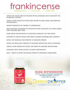Frankinsense oil Use my Young Living Member #: 2920434 https://www.youngliving.com/vo/#/signup/start