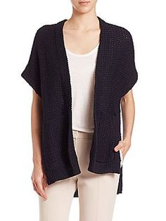 Theory Fremont Ibisco Cocoon Cardigan - Night Navy - Size M