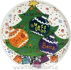 Pottery Plate Paint Ideas | Christmas: Painted Pottery