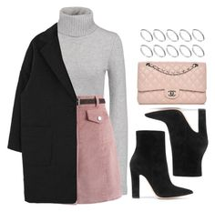 """""""Gray and Pink"""" by vany-alvarado ❤ liked on Polyvore featuring Michael Kors, Chicwish, Gianvito Rossi, ASOS and Chanel"""