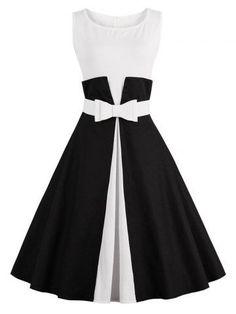 GET $50 NOW | Join RoseGal: Get YOUR $50 NOW!http://m.rosegal.com/vintage-dresses/color-block-pin-up-dress-1082302.html?seid=jirj49sil7sp1h82f13of0vcf5rg1082302