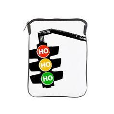 Ho Ho Ho Traffic Lights iPad Sleeve