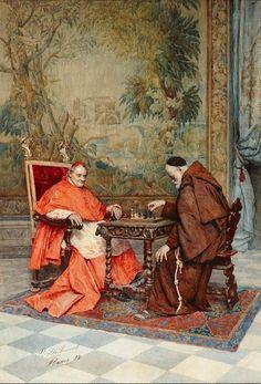 de TOMMASI Publio (1849 – 1914) The game of chess. 1882
