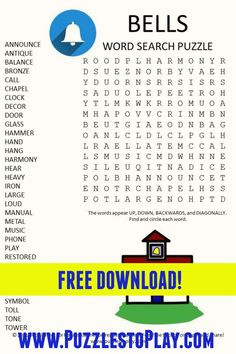 Free Word Search Puzzles, Free Printable Puzzles, Printable Labels, Puzzle Games, Puzzle Books, Spring Word Search, Learning Websites For Kids, Old Musical Instruments, Spring Words