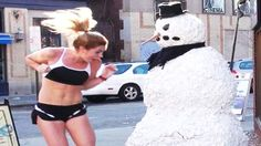 Freaky The Funny Scary Snowman Prank