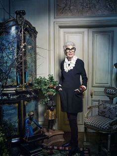 Iris Apfel by Victoria Will - hope I'm this cool at that age!