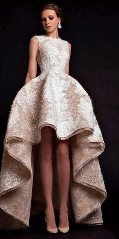 "Krikor Jabotian ""The Last İlkbahar"", İ/Y 2015 – Haute couture - Mode Stil Mullet Wedding Dresses, Mullet Dress, Popular Wedding Dresses, Prom Dresses, Formal Dresses, 2015 Dresses, High Low Dresses, High Low Gown, Bridesmaid Gowns"