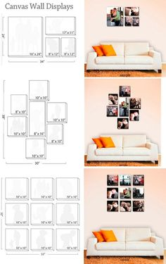 Canvas wall display guides: Could work for framed prints as well