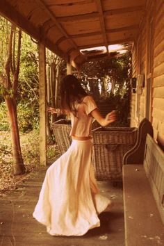 A 'good morning life' porch dance... resistance is futile...