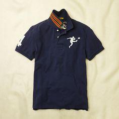 RUGBY by Ralph Lauren/ラルフローレン ラグビー Striped Collar Big Kicker Polo Shirt