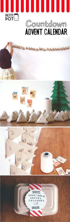 # DIY advent calendar # DIY calendrier de l'avent