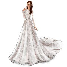 This is What Meghan Markle's Wedding Dress Will Look Like BridalGuide Wedding Gown meghan markle wedding gown Wedding Dress Illustrations, Wedding Dress Sketches, Dress Design Sketches, Fashion Design Drawings, Fashion Sketches, Wedding Dresses, Gown Wedding, Fashion Drawing Dresses, Fashion Illustration Dresses