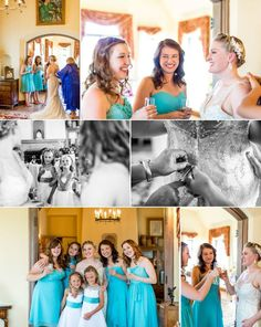 Nothing better than a bride and her bridesmaids helping her mom.