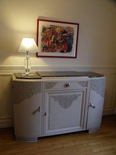 Meuble art-déco peint à Levallois-Perret - Atelier de l'ébéniste C COGNARD Eure restaurateur fabricant agencement Paris Oise Yvelines meuble ancien rénovation meuble personnalisé
