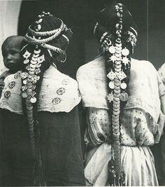 Hair ornaments of the Ziz Valley, Morocco.  Thank you Carolena & Christophe!