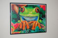 frog perler bead art made by me - amanda wasend