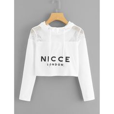 SheIn offers Eyelet Mesh Yoke Crop Hoodie & more to fit your fashionable needs. Pretty Outfits, Stylish Outfits, Cool Outfits, Girls Fashion Clothes, Fashion Outfits, Mode Kawaii, Mode Kpop, Stylish Hoodies, Belly Shirts