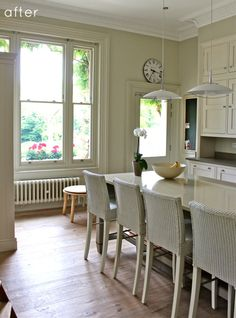 White Kitchen Emulsion kitchen with walls in clunch modern emulsion, units in wimborne