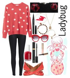 """""""Ladybug: Miraculous Ladybug"""" by ender-chic52 ❤ liked on Polyvore featuring Equipment, Tory Burch, Essie, Tom Ford, Dolce&Gabbana, By Terry, Marc Jacobs, Kevin Jewelers, Bling Jewelry and Alex and Ani"""