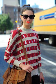 Style. #street style, orange mouth