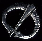 """Two Dragons Runic Pewter Brooch by Brooches, Penannulars and Kilt Pins. $44.75. Great finishing touch for Renaissance, Medieval, Cavalier, Regency, Elizabethan, Colonial, Georgian, English Civil War, American Revolutionary War Cloaks, Capes, Coats or Sweaters for all periods.. Excellent for a period look for Renaissance, Victorian, Gothic or Edwardian as well as most other periods and modern interpretations. Two Dragon Runic Brooch. Size: 2.25"""" Diameter in solid pewter.. Two Dr..."""