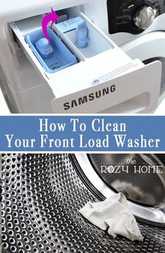 The Great Appliance Clean-Up: How to Clean Your Washer and Dryer Quick and easy tips for cleaning your front load washer and dryer. All you need is a few basic items and a bit of time to have your front load washer smelling like new again!