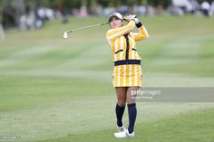Bo-Mee Lee of South Korea hits her second shot on the 9th hole during the second round of the Daikin Orchid Ladies Golf Tournament at the Ryukyu Golf Club on March 3, 2017 in Nanjo, Japan.