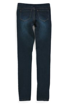 Tractr Skinny Five Pocket Stretch Jeggings (Little Girls & Big Girls) available at #Nordstrom