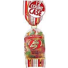 8 oz bags of Gummi Bears from Jelly Belly in a 12-count case. Five fruit flavors. Classic candy made in America. Fruity