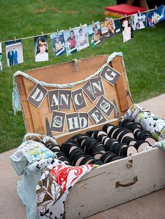 Put on your dancing shoes...what a cute idea for any party. But check out the pictures on the line. Awesome!