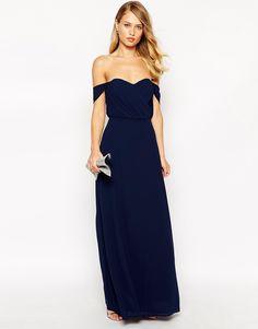 Image 4 of Jarlo Florance Off Shoulder Maxi Dress