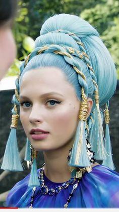 Creative Hairstyles, Unique Hairstyles, Pretty Hairstyles, Hair Inspo, Hair Inspiration, Futuristic Hair, 3 4 Face, Shotting Photo, Fantasy Hair