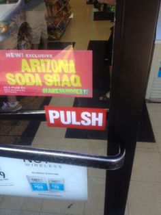 "Me: ""So do I push or pull?"" Apathetic employee: ""Yeah."""