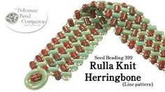 Using Rulla Beads in Herringbone  ~ Seed Bead Tutorials
