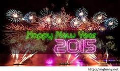 Happy New Year 2015 fireworks sms wishes