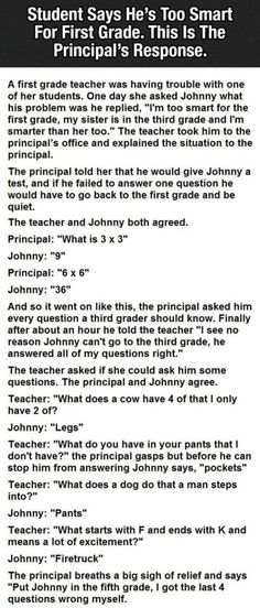 One Of My Favorite Little Johnny Jokes