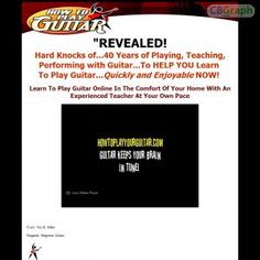 A Complete Guitar Package For Beginners To Intermediate. Easy Beginner Guitar Songs. A Complete Set Of Easy Guitar Songs With Video Instructions. 40 Years Experience Of Teaching And Playing. Offering 60% Commissions. Been Tested Very Low Refund Rate. See more! : http://get-now.natantoday.com/lp.php?target=guitartim