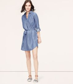 Primary Image of Chambray Shirtdress